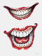 Halloween Temporary Tattoo Sticker Party Props Horror Bloody Scar Tattoo Transfer Paper - #14
