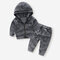 Boy's Cowboy Long Sleeves Coat+Pant Casual Sets for 1-7Y - Gray