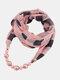 Vintage Chiffon Women Scarf Necklace Beaded Pendant Lattice Flowers Pattern Silk Scarf - #18