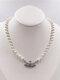 Luxury Full Diamond Shiny Saturn Women Necklace Crystal Pearl Saturn Pendant Necklace - #03
