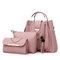 Mulheres de três peças Set Tassel Handbag Crossbody Bag