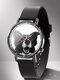 Animal Printed Men Business Watch Black-White Dogs Cats Pattern Women Quartz Watch - #15