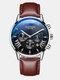 11 Colors Men Business Watch Leather Alloy Mesh Band Calendar Luminous Quartz Watch - #11