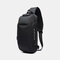 Men Anti-theft USB Charging Multi-Layers Waterproof Crossbody Bag Chest Bag Sling Bag - Black