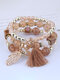 Vintage Multicolor Beautiful Opal Bracelet Temperament Multi-layer Tassel Bracelet - #20