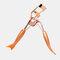 Orange Mermaid Handle Eyelash Curler Mini Comb 180 Degree Curling Eyelash Tool - Rose Gold