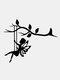 1 PC 2D jardin fée décoration pieu métal art elfe silhouette insertion ornement pour extérieur fée se balançant sur la branche Hogard - #01