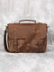 Vintage Multifucntion Large Capacity Business Crossbody Bag - Brown