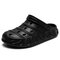 Men EVA Hollow Out Beach Two Ways Casual Sandals - Black