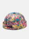 Unisex Cotton Colorful Graffiti And Letter Pattern Printing Brimless Beanie Landlord Cap Skull Cap - #01