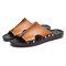 Men Metal Decoration Punta aperta Comfy Soft Pantofole da spiaggia casual