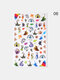 3D Nail Art Stickers Adhesive Colorful Love Heart Red Lips Rose Valentine's Day Stickers - #11