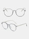Anti-Blue Glasses Men Flat Mirror Full Frame Women Myopia Eyeglasses Frame - Gray