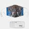 Elephant Pattern Polyester Fashion Dustproof Mask With 7 Mask Gaskets - #01