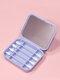Biologisch abbaubares Silikon-Wattestäbchen mit wiederverwendbarem Spiegel-Ohrreinigungs-Make-up-Wattestäbchen - Blau