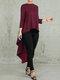 Сплошной цвет асимметричная блузка