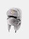 男性と女性の防寒冬用トラッパーハットマスクトラッパーハット付きの厚い冬用ハット耳栓 - #05