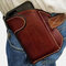 Men Genuine Leather 6.3 Inch EDC Cell Phone Holster - Coffee