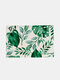 1PC Placemat Table Mats Green Plant Pattern Heat Resistant Insulation Wipeable Waterproof Washable Kitchen Dining Patio Table Placemats - #01
