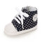 Baby Toddler Shoes Soft Lace Up Side Zipper Casual Canvas Shoes - Black