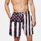Mens Flag Print Board Shorts Funny Colorful Striped Loose Fishing Beach Shorts With Pockets - #01