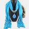 Bohemian Dacron Multi-layer Necklace Handmade Teardrop Pendant Tassel Women Scarf Shawl Necklace - 04