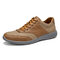 Men Light Weight Soft Lace Up Walking Shoes - Brown