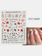 3D Nail Art Stickers Rose Cupid Eros Love Lip Adhesive Valentine's Day Stickers - #01