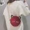 Women Plush Leopard Print Round Bag Shoulder Bag