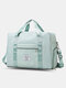 Foldable Travel Duffel Bag Luggage Sports Gym Water Resistant Oxford - Green