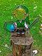 1PC Acrylic Koroks Family Zelda Game-theme Leaf Fairy Insert Card For Garden Decor Game Lovers - #03