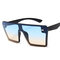 Donna Fshion Big Scatola Color Mercury Sunglasses Retro Borsa Personality Sunglasses