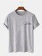 Mens Small Dinosaur Print Plain 100% Cotton Short Sleeve T-Shirts - Gray
