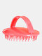Household Shampoo Brush Anti-Itch Scalp Massage Comb Salon Hair Styling Tools - Red
