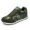 Outdoor Non Slip Camouflage Pattern Lace Up Flat Casual Shoes for Women - Green