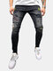 Men's Cotton Cotton Patchwork Ricamato Jeans Denim Pantaloni per uomo