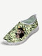 Plus Size Women Casual Mesh Cat Printing Breathable Slip On Walking Shoes - Money Cat 3