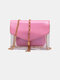 Women 2PCS Metal Tassel Clear Bag With Inner Pouch Crossbody Bag - Pink