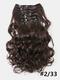 23 цвета, 16 зажимов, длинные вьющиеся, 42868, 24 шт., Высокотемпературное волокно, пушистое, без маркировки, Волосы, удлинение - 13