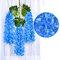 12 قطعة / المجموعة 100 سنتيمتر الزهور الاصطناعية الحرير الوستارية وهمية حديقة معلقة زهرة النبات كرمة ديكور الزفاف - أزرق