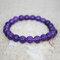 Bohemian Multicolor Crystal Beaded Bracelets Amethyst Elastic Rope Tassel Pendant Women Jewelry - #08