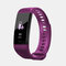 Smart Band Heart Rate Blood Pressure Monitor Bluetooth Color Screen Smartband Activity Monitor Fitness Tracker - Purple