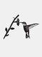 23-Types Metal Garden Tree Insert Decor Hummingbird Owl Simulation Animal Art Ornament - #21