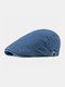 पुरुषों के कपास Plus सिर परिधि एडजस्टेबल आरामदायक फ्लैट टोपी आगे टोपी टोपी टोपी - नौसेना