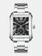 3 Colors Stainless Steel Men Vintage Watch Decorated Pointer Calendar Quartz Watch - Black