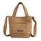 Women Canvas Leisure Handbag Solid Crossbody Bag