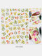 3D Nail Art Stickers Waterproof Small Fresh Colorful Simulation Dried Flowers Butterfly Nail Decals - #08