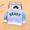 Kid's Tie-dyed Print Long Sleeves O-neck Casual Sweatshirt For 2-8Y - 2