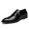 Tamanho grande homens Metal Buckle Business Formal Casual Monk Shoes