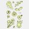 Halloween Luminous Tattoo Children Cartoon Stickers Body Art Waterproof Fake Temporary Tattoo Transfer Paper - 09